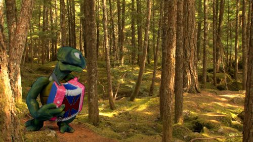 green-turtle-puppet-plays-accordion-in-the-woods